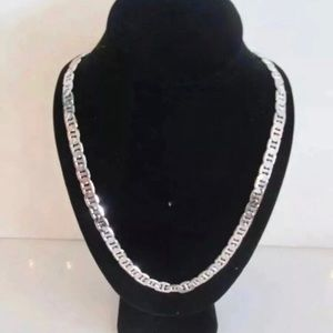 14k White Gold plated chain